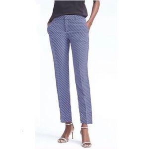 Banana Republic Avery Fit Foulard Blue Pants 10